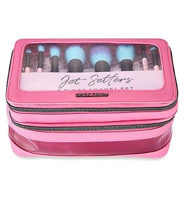 Spectrum Collections jet setter travel brush set pink