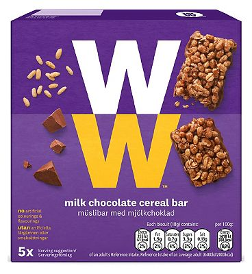 WW Milk Chocolate Cereal Bar 18g x 5pk - 90g