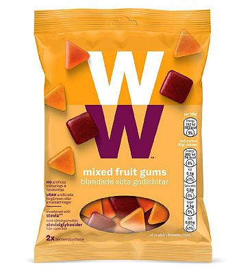 WW Mixed Fruit Gums - 40g x 2