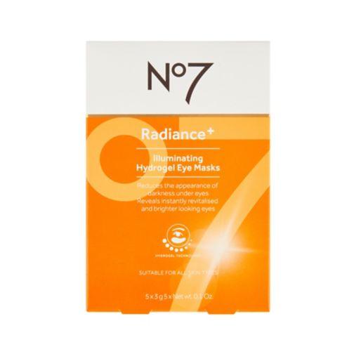 No7 Radiance+ Illuminating Hydrogel Eye Masks 5 x 3g