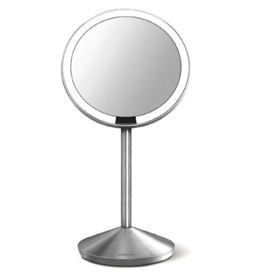simplehuman sensor mirror mini, 10x magnification, brushed stainless steel
