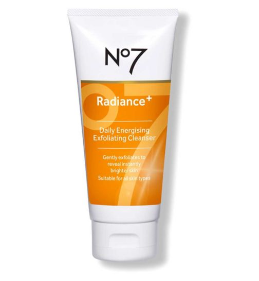 No7 Radiance+ Daily Energising Exfoliating Cleanser 100ml