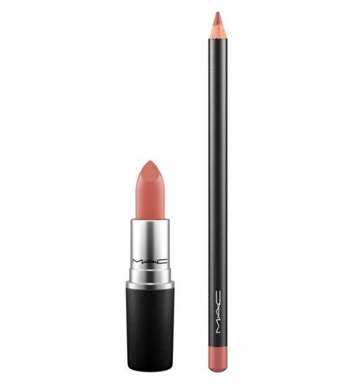 MAC Lip Duo Velvet Teddy + Boldly Bare;MAC Lip Pencil;MAC Lip Pencil;MAC Matte Lipstick;MAC Matte Lipstick