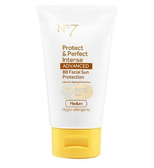 No7 Protect & Perfect Intense ADVANCED BB Facial Sun Protection SPF50 Medium 50ml