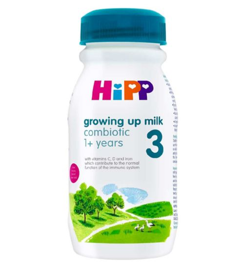 HiPP 3 Growing up Baby Milk Ready to Feed Bottle from 1 Year Onwards 200ml