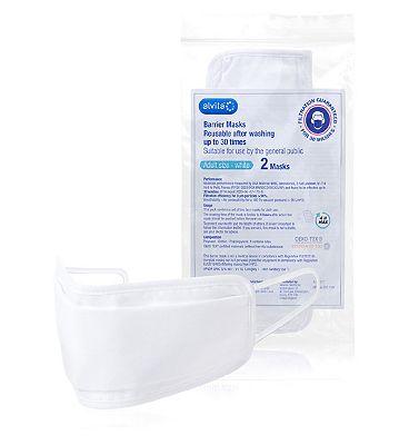 Alvita Adult Reusable Barrier Masks 2 Pack