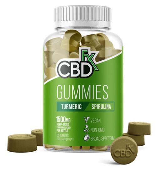 CBDfx Gummies Turmeric Spirulina 1500mg - 60 Gummies
