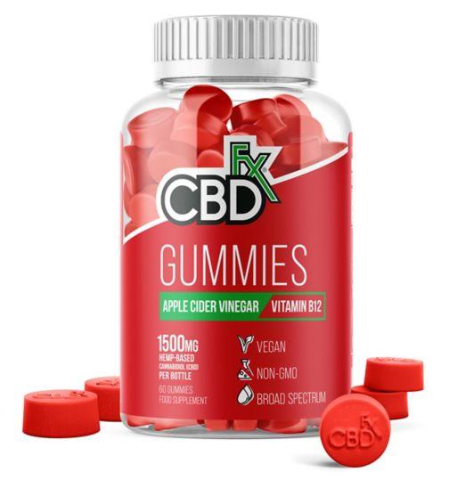 CBDfx Gummies Apple Cider Vinegar & Vitamin B12 1500mg - 60 Gummies