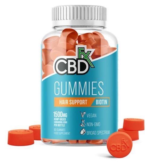 CBDfx Gummies Hair Support Biotin 1500mg - 60 Gummies