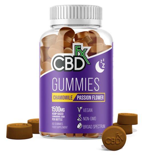CBDfx Gummies Chamomile & Passion Flower Sleep 1500mg - 60 Gummies