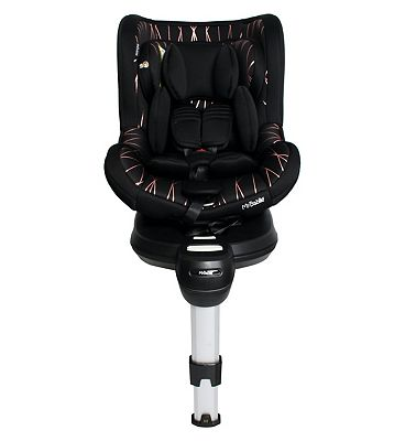 My Babiie Orbit Group 0+/1 Spin Car Seat - Black and Rose Gold