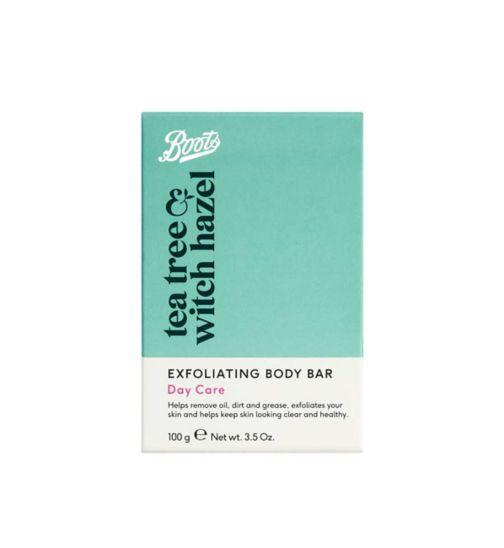 Boots Tea Tree & Witch Hazel Exfoliating Body Bar 100g