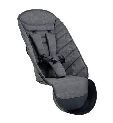 iCandy Peach Dark Grey Check Second Seat Fabric & Bumper Bar