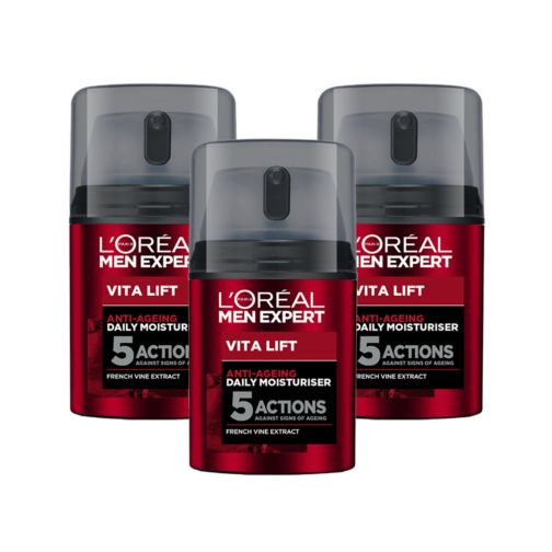 L'Oreal MExpertVita Lift 5    moisturisr;L'Oreal Men Expert Vita Lift 5 Anti Ageing Daily Moisturiser 50ml;L'Oreal Men Expert Vita Lift Anti Ageing 50ml Moisturiser Triple Pack