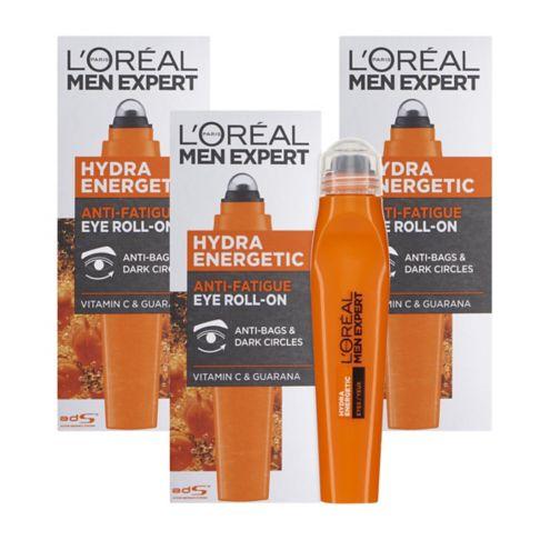 L'Oreal Men Expert Hydra Energetic Anti Fatigue Eye Roll-On 10ml;L'Oreal Men Expert Hydra Energetic Eye Cream Roll On Triple Pack  ;L'Oreal Men hydra eye roll on 10ml