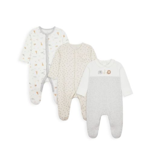 My First Organic Cotton Sleepsuits - 3 Pack