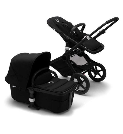 Bugaboo Fox 2 Seat and Carrycot Pushchair - Black Fabrics