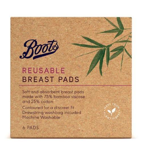 Boots Reusable Breast Pads 6s6
