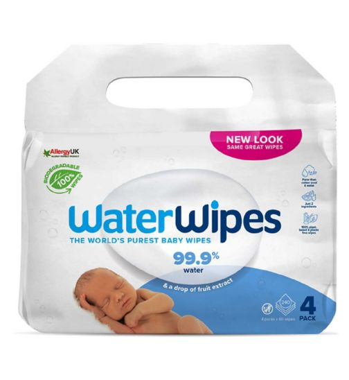 Waterwipes Biodegradable 4pk
