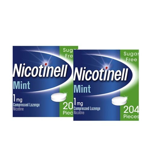 Nicotinell Mint Lozenge Stop Smoking Aid 204s 1mg x 2 Bundle;Nicotinell Nicotine Lozenge Stop Smoking Aid 1 mg Mint 204 Pieces;Nicotinell Nicotine Lozenge Stop Smoking Aid 1 mg Mint 204 Pieces