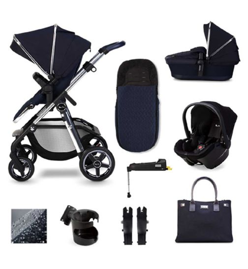 Silver Cross Pioneer 2020, Simplicity Plus and Isofix Base Pushchair Bundle - Sapphire