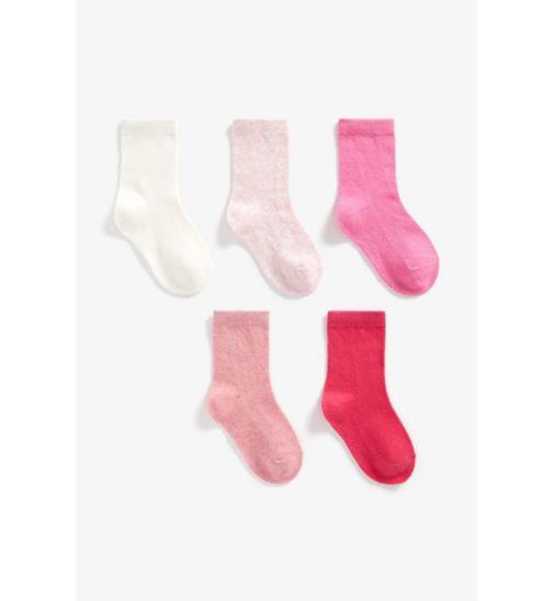 Girls 5 Pack Socks