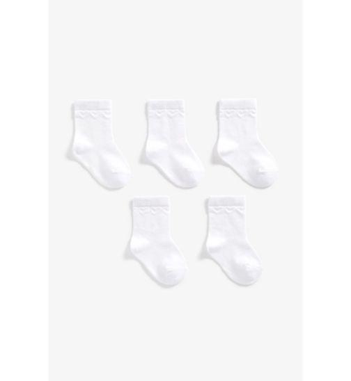 Girls 5 Pack White Socks