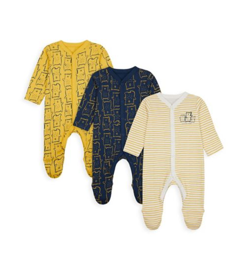 Boys 3 Pack Sleepsuits