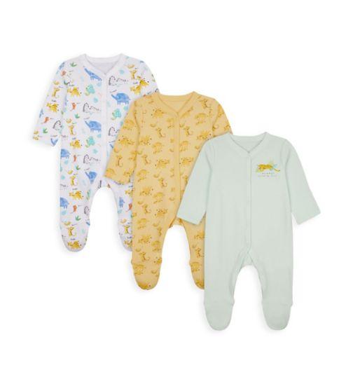 Unisex 3 Pack Sleepsuits