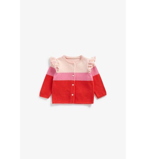 Newborn Girl Stripe Knit Cardigan