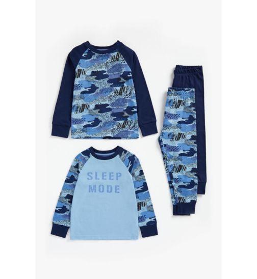 Boys 2 Pack Camo Pyjamas