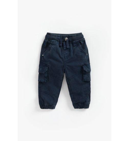 Boys Navy Cargo Trouser