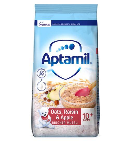 Aptamil Apple, Oats & Raisin Bircher Muesli Baby Cereal 10+ Months 275g