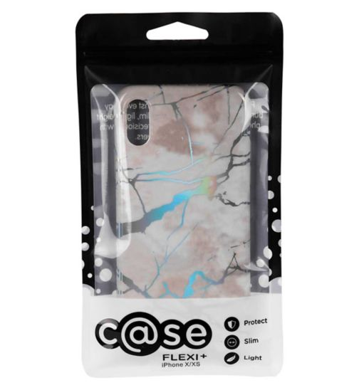 Case Flexi+ iPhone X Phone Case Hologram White