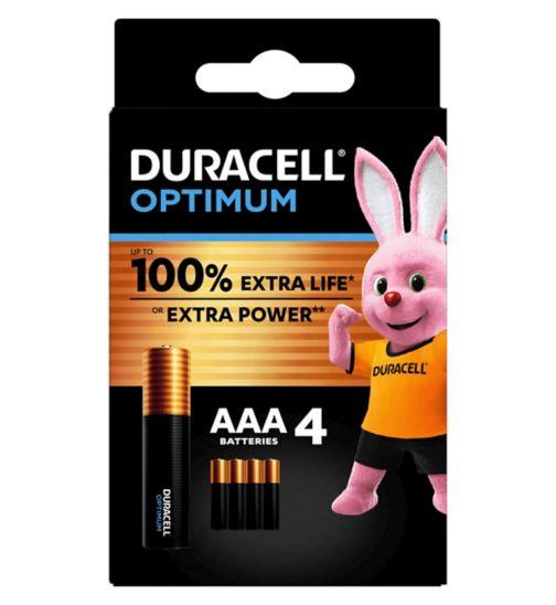 Duracell Optimum AAA batteries 4s