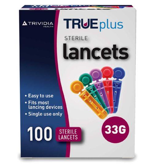 Trividia TRUEplus Lancets 33 Gauge - 100 Sterile Lancets