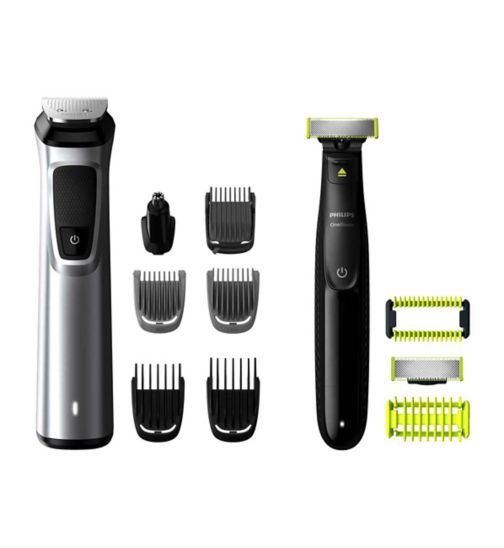Philips Series 9000 12-in-1 Multigroom Face, Hair and Body with OneBlade MG9710/93
