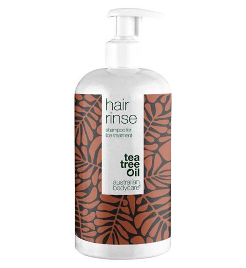 Australian Bodycare Tea Tree Oil Hair Rinse Shampoo Lice Treatment 500ml