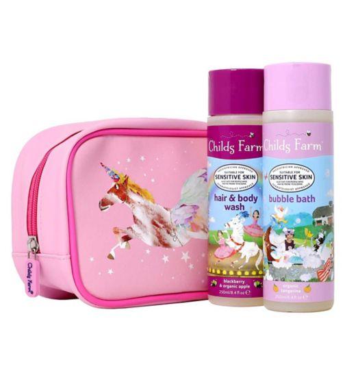 Childs Farm Unicorn wash bag gift set