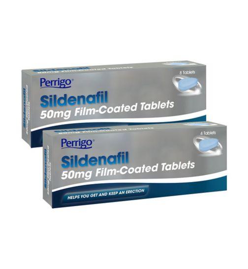 Perrigo Sildenafil 50mg Film-Coated 12 Tablet Bundle