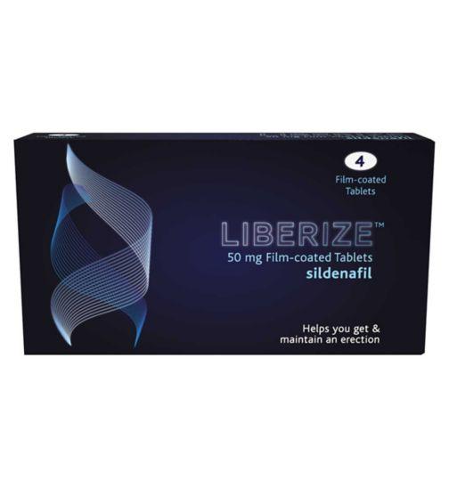 Liberize 50mg Film-coated  Sildenafil - 4 Tablets