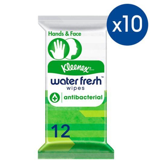 Kleenex Antibacterial Wipe 10 Pack Bundle;Kleenex Water Fresh wipes antibactrl 12s;Kleenex® Water Fresh™ Antibacterial Wipes 12 Wipes
