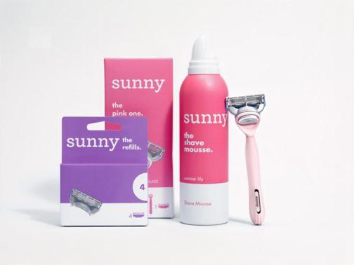 Sunny - The Pink Bundle;Sunny razor blade refills 4s;Sunny razor pink;Sunny shave mousse summer lily 240ml;sunny razor - the pink one;sunny razor blades - the refills X4;sunny shave mousse - summer lily