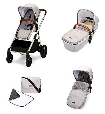 Ickle Bubba Eclipse 2 in 1 carrycot & pushchair chrome/silver grey/tan