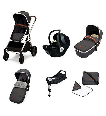 Ickle Bubba Eclipse i-size travel system with mercury car seat and isofix base graphite grey