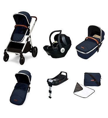 Ickle Bubba Eclipse i-size travel system with mercury car seat and isofix base midnight blue